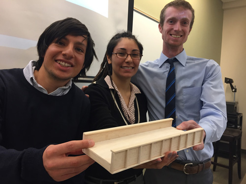 Engineering students learn how to design bridges using 3D printing