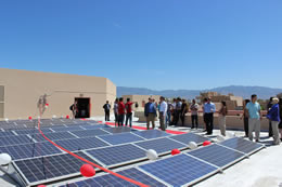 ECE Solar Panel System Ribbon Cutting Event